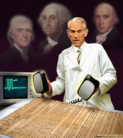 Doctor Ron Paul with Washington, Jefferson