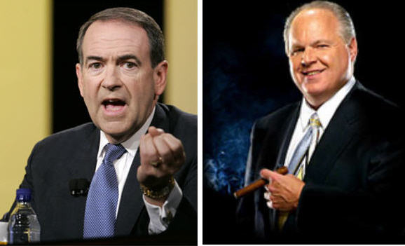 Rush Limbaugh - Mike Huckabee Kerfuffle