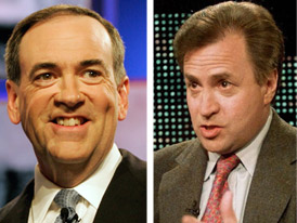 Mike Huckabee and Dick Morris Together Again Photo Morris has been touting Huckabee