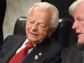 Democrats May Push Byrd From Chairmanship Senate Dems are quietly exploring ways to replace venerable Robert Byrd as chairman of Appropriations Committee. Photo: AP