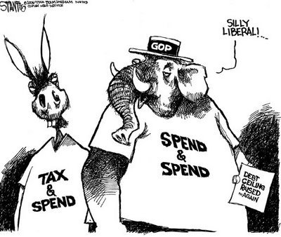 Tax and Spent vs. Tax Cut and Spend