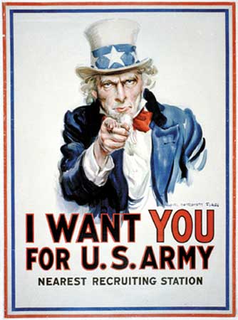 Army Recruiting Uncle Sam Poster