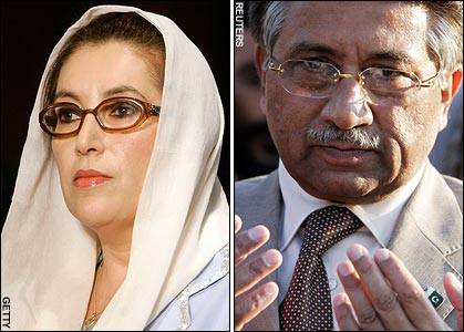 Bhutto Was to Reveal Musharraf Fixing Elections Photo Miss Bhutto vowed to return home to campaign against Mr Musharraf