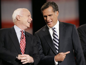 Image result for mccain-romney images
