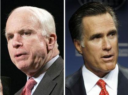 John McCain and Mitt Romney Battle for Michigan