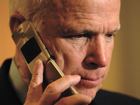 John McCain Phone Call Photo