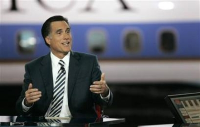 Romney Not Buying Super Tuesday Ads? Presidential candidate former Massachusetts Governor Mitt Romney speaks during the CNN/Los Angeles Times Republican presidential debate at the Ronald Reagan Presidential Library in Simi Valley, California January 30, 2008. (Robert Galbraith/Reuters)