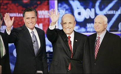 McCain Surging, Romney Retreating, Giuliani Unscathed