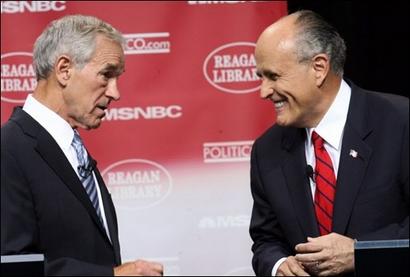 Ron Paul vs. Rudy Giuliani Photo