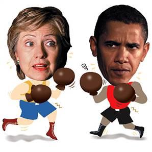 Hillary - Obama Boxing