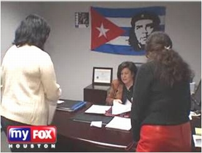 Obama Office Che Guevara Flag