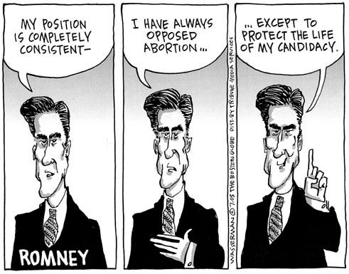 Mitt Romney Abortion Cartoon