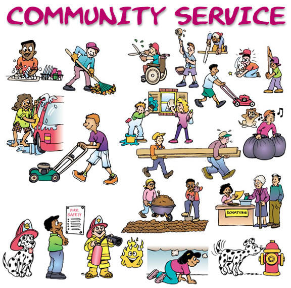 Community Service is Something You're Sentenced To