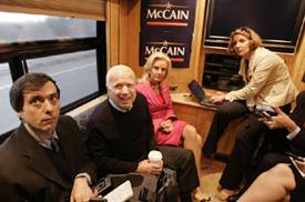 McCain Rides 1st Class Train