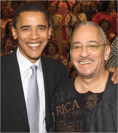 Barack Obama and Rev. Jeremiah Wright Photo