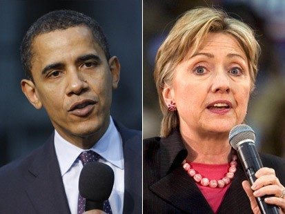Obama and Clinton - Six Weeks on the Road