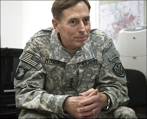 Petraeus: Iraqi Leaders Not Making 'Sufficient Progress General David Patraeus is interviewed by Washington Post correspondents in his Baghdad office of the US Embassy. camera works		Photo Credit: Andrea Bruce - The Washington Post Photo