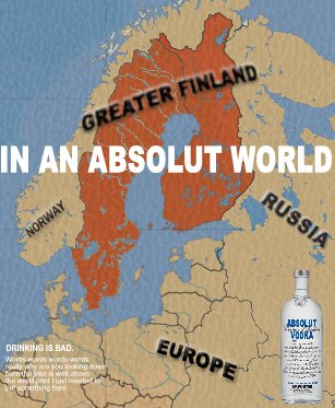 Absolut Vodka Redraws USA - Mexico Border Response