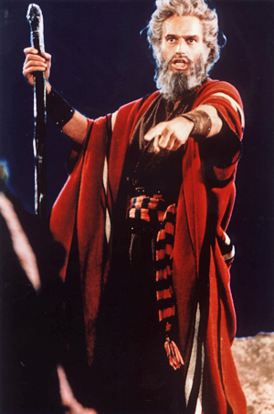 Charlton Heston Dead at 84 American Cinematheque EPIC: Heston as Moses in Cecil B. DeMille's 1956 epic, The Ten Commandments.