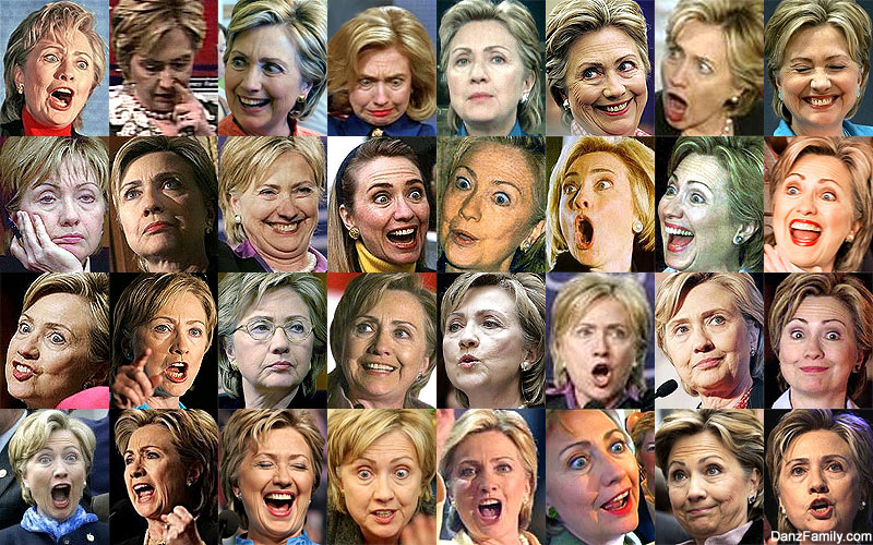 Hillary Clinton Many Faces