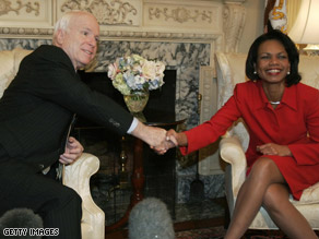 McCain-Rice Beats Obama-Clinton in New York A McCain-Rice ticket could carry New York, a new poll says. GETTY IMAGES