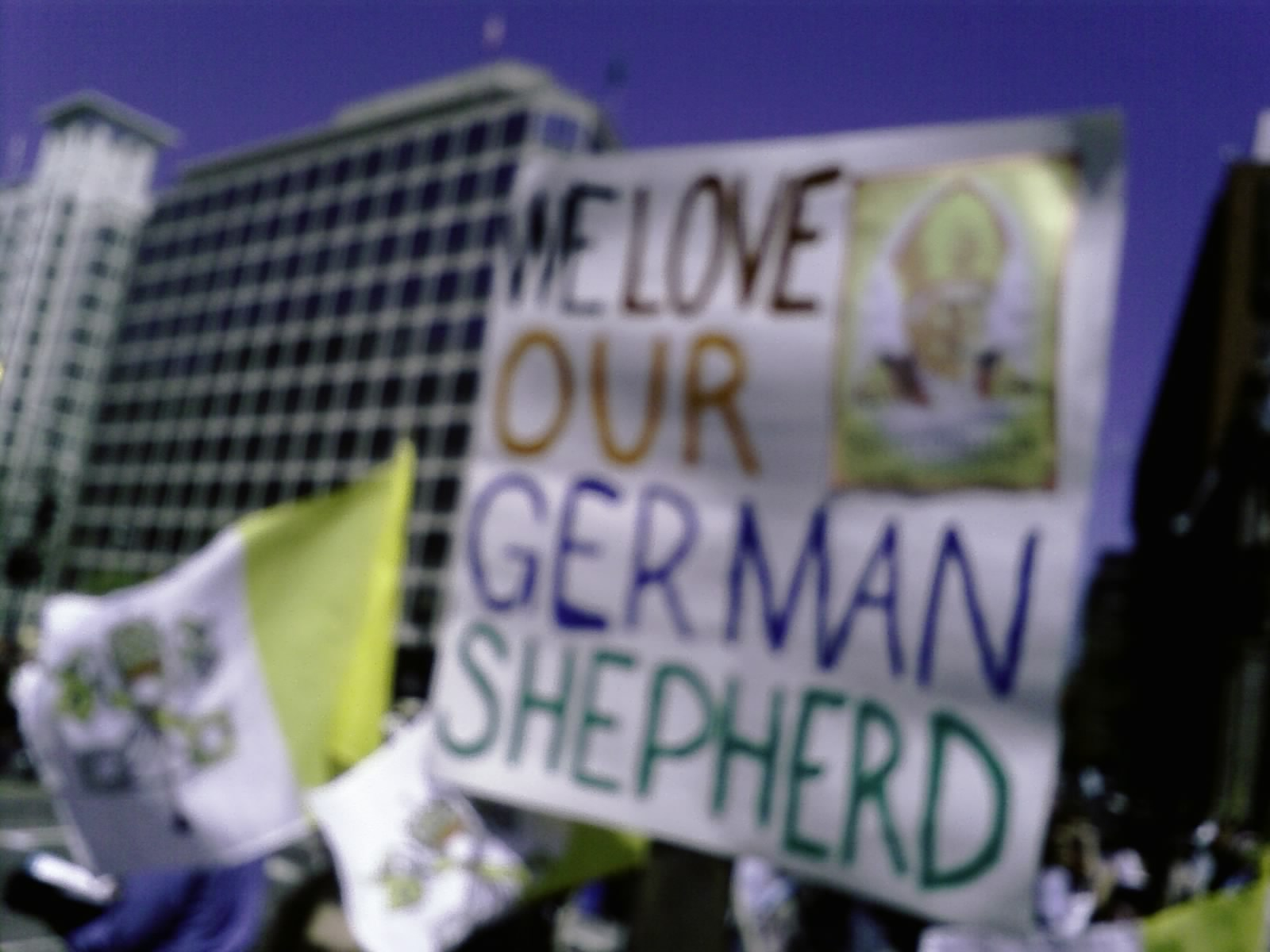 Pope Benedict Welcome German Shepherd Photo