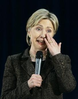Hillary Clinton Crying Photo