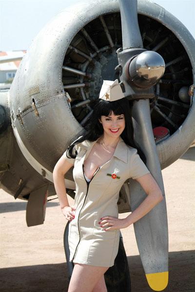 Gina Elise Airplane Pin-up
