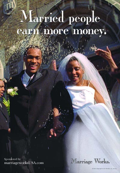 Married People Earn More Money Poster
