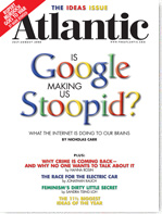 Google Making Stupid - Atlantic Cover
