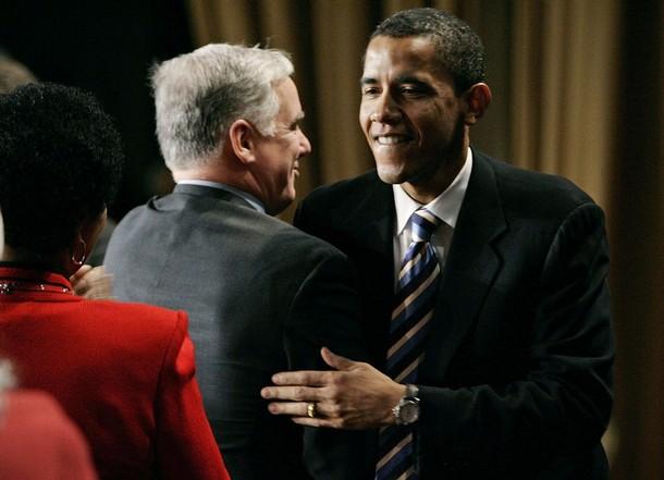 Howard Dean and Barack Obama Photo