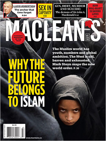 MacLean's Muslim Hate Cover
