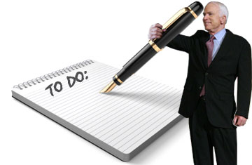 McCain To Do List