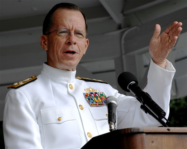Mike Mullen Army War College Speech Photo