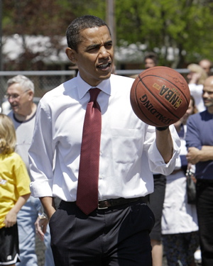 Obama Bounce Basketball Photo