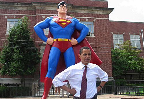 Barack Obama Superman Pose