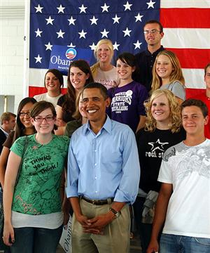 Obama's Race an Asset for Young Voters