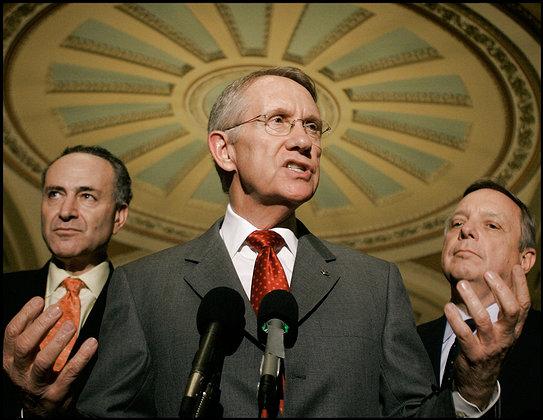 Harry Reid, Chuck Schumer, Dick Durbin Senate Photo