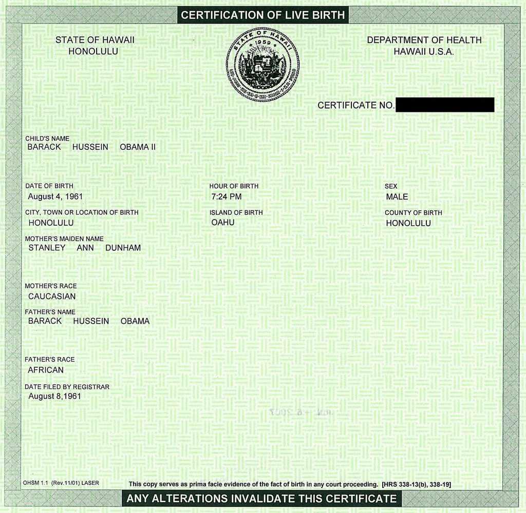 Barack Obama, Natural Born U.S. Citizen