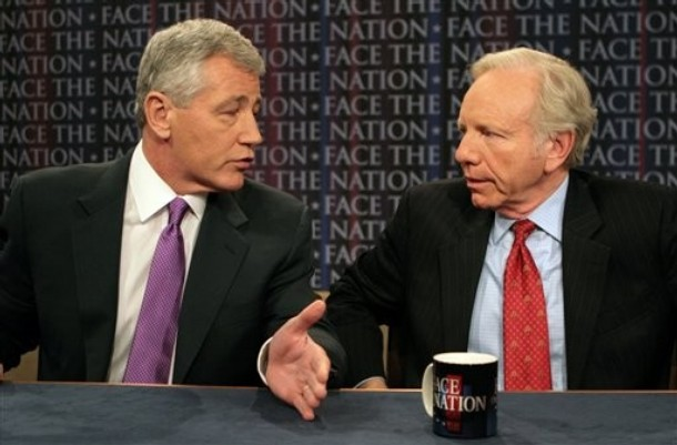 Chuck Hagel and Joe Lieberman on Face the Nation