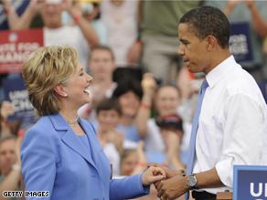 Hillary Clinton - Barack Obama Unity Rally Photo