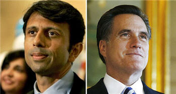 Bobby Jindal and Mitt Romney Photo