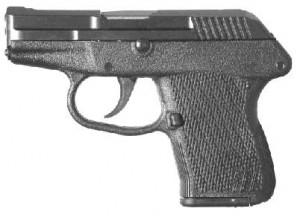 The P-32 is a semi-automatic, locked breech pistol, chambered for the .32 Auto cartridge.  The firing mechanism is double action only. The magazine has a 7 round capacity. The KEL-TEC P-32 is the lightest .32 Auto pistol ever made. Thanks to its locking dynamics and superior ergonometry, perceived recoil and practical accuracy are comparable to much larger guns.