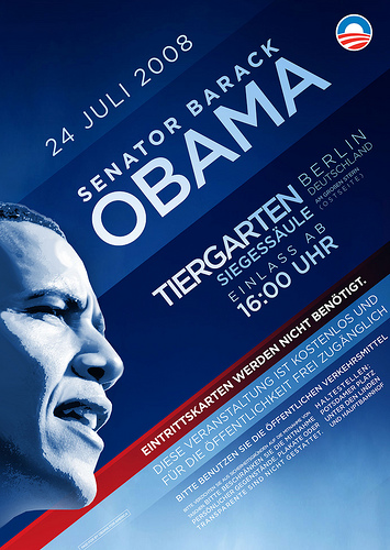 Obama Berlin Rally Poster