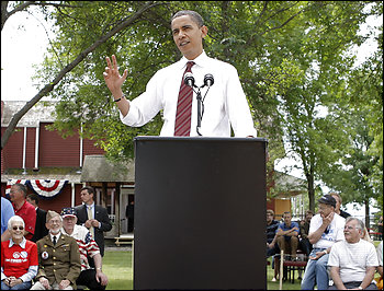 Barack Obama said during a campaign stop in Fargo, N.D., that he wants to \