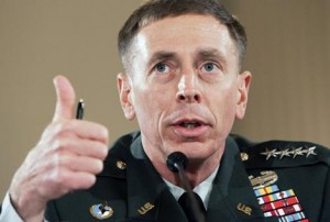 General David Petraeus testifies on the future course of the war in Iraq while appearing before a joint hearing of the House Armed Services Committee and House Foreign Relations Committee on Capitol Hill in Washington.