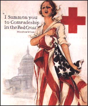 Red Cross Poster Woodrow Wilson