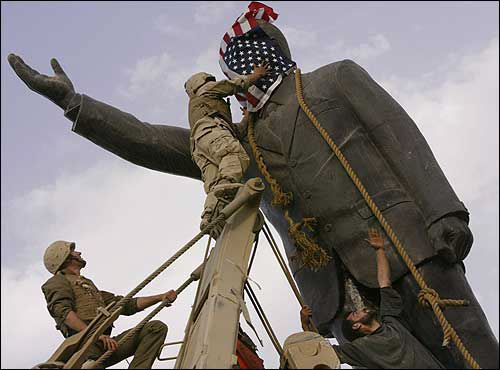 Saddam Statue Pulled Down