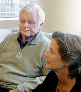 Diagnosed in hospital, pictured with wife