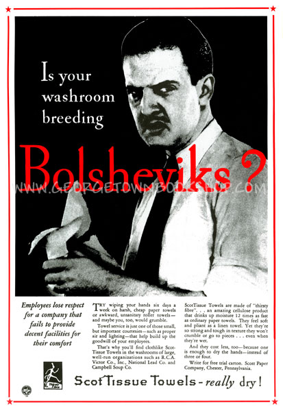 Is Your Washroom Breeding Bolsheviks